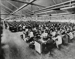 The Workshop At Montague Burton Limited The Well Known Multiple-shop Tailoring Concern. In This Picture Nearly 3 000 Of The Companies Employees Are Housed And Are Busy Making Trousers