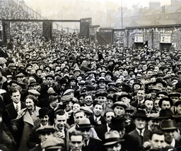 Football Fans At Highbury The Home Of Arsenal In 1934 The Crowd Leaving The Ground After The Match