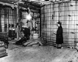 Prohibition: Raid of an illegal distillery in Newark, 1932