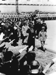Adolf Hitler 1938 on state visit in Italy
