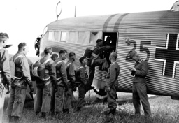 Paratroopers in front of a Junkers Ju 52, 1938