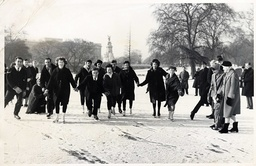 Big Freeze Of 1963 Skaters On The Lake At St James''s Park In London