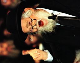 FILER SHOWING AILING RABBI SCHACH DURING A TEL AVIV RALLY