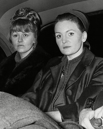 Yvonne Blenkinsop (l) And Mary Denness The Wives Of Hull Trawlermen Visiting London To Promote 'safety For Hull Trawler's' Campaign. Box 718 92211167 A.jpg.