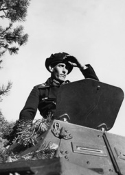 German soldier in an armored reconnaissance car, 1940