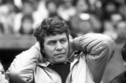 Otto Rehhagel on the last matchday of Bundesliga season 1985/1986