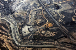 The Syncrude tar sands mine north of Fort McMurray.