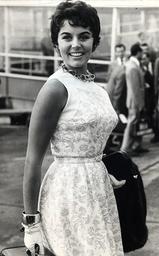 Actress Eunice Gayson At London Airport.