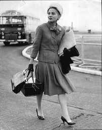 Actress Joan Fontaine Seen Here At London Airport On Her Way To Holland To Compete In The International Balloon Race.