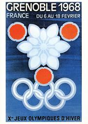 Winterolympiade 1968, Grenoble/Plakat - Winter Olympics 1968, Grenoble / Poster -