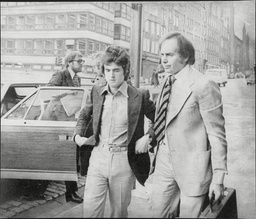 Les Mckeown Of Pop Group Bay City Rollers At Edinburgh Court With Manager Tom Paton (right) The Bay City Rollers Were A Scottish Pop Band Whose Popularity Was Highest In The 1970s. The British Hit Singles & Albums Noted That They Were 'tartan Teen S