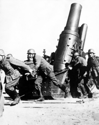 German mortar shoot fortification in Warsaw, 1939