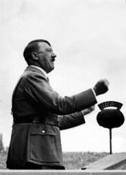 Adolf Hitler as a speaker at the Nuremberg Rally 1936