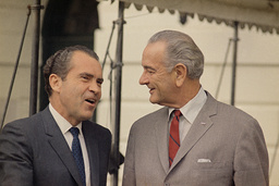 Watchf Associated Press Domestic News Dist. of Col United States APHS57021 RICHARD NIXON WITH LYNDON JOHNSON - WHITE HOUSE
