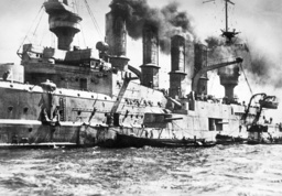 German cruiser 'Scharnhorst' in the port of Valparaiso, 1914