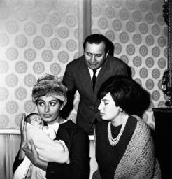 Sophia Loren, Romano Mussolini, Maria Mussolini
