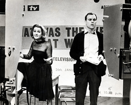 Television Programme ' That Was The Week That Was' (1963) Millicent Martin & Kenneth Cope.