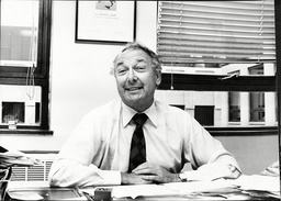 British Airline Entrepreneur Sir Freddie Laker In His Office Celebrating His 60th Birthday Sir Frederick Alfred Laker (6 August 1922 A 9 February 2006) Was A British Airline Entrepreneur Best Known For Founding Laker Airways In 1966 Which Went Bankru