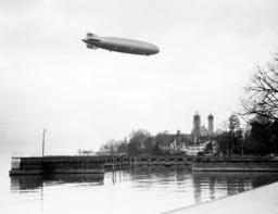 Zeppelin 'Hindenburg' (LZ 129) above Friedrichshafen, 1936