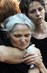 MOTHER OF KILLED MACEDONIAN SOLDIER CRIES HEXT TO HIS COFFIN IN PRILEP
