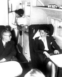 Cabin and galley on board a Focke-Wulf FW 200 Condor, 1938