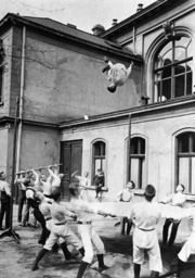Students at gym class, 1911