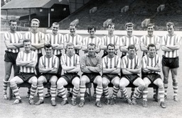 Sheffield Wednesday Football Club Team Photograph. Back Row (left To Right): Peter Swan Vic Mobley Eddie Holliday Derek Wilkinson John Fantham Peter Johnson Brian Hill Don Megson David Layne. Front Row (left To Right): Gerry Young John Quinn Colin Do