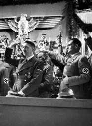 Adolf Hitler and Rudolf Hess at the opening of the Winterhilfswerk (WHW), 1939
