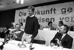 Guido Westerwelle with the young liberals