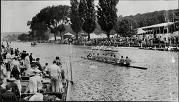 Henley Regatta 1936. Trinity College Dublin Beating St Edmund Hall Oxford In The Ladies' Challenge Plate.