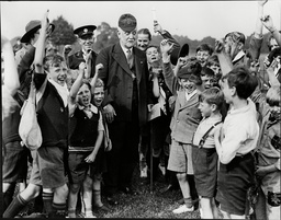 George Lansbury Labour Politician With Boys At East London Scouts Rally Victoria Park 1937.