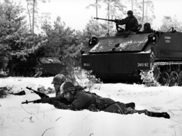 Winter exercise of US army in Berlin