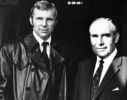 Bobby Moore And Sir Alf Ramsay At Stamford Bridge.