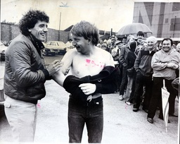 Kevin Keegan With Newcastle Fan 22yo Kevin Nixon. Kevin Keegan Signs Again This Time For The Benefit Of A Newcastle Fan. Newcastle United's Kevin Keegan Enterprise Will Pay For Itself Before He Even Kicks A Ball. All Day Queues Of Fans Buying Season