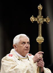 Pope Benedict XVI leads the Christmas Mass in Saint Peter's Basilica at the Vatican