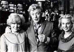 Actor Michael Caine Filming A Scene From Alfie With (left) Marilyn Gothard And Andre Cameron.