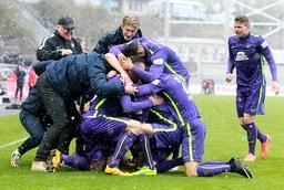 Bilder des Tages SPORT GER 3 Liga FC Erzgebirge Aue vs Chemnitzer FC 24 04 16 Aue Sparkassen E