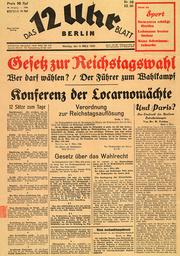 Gesetz z.Reichstagswahl 1936/Titelblatt - Law on Reichstag elec.1936/Title page -