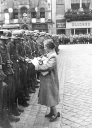 Reception of German soldiers after the end of the fights in Poland, 1939
