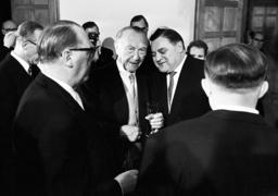 Chancellor Adenauer holds a reception