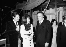 Federico Fellini, Marcello Mastroianni, British actress Ann Heywood