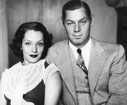 Johnny Weismuller Tarzan Actor With Wife Actress Lupe Velez 1934