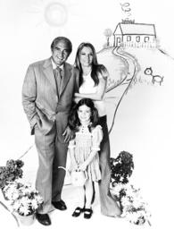 BIG EDDIE, from left: Sheldon Leonard, Sheree North, Quinn Cummings, 1975.