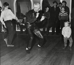 Daily Mail Boys And Girls Exhibition At Olympia London Little Ann Brandreth Doing Twist With Dj Jimmy Savile