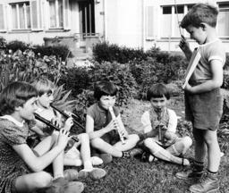 Flute concert in the garden
