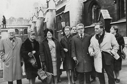 Lily Bilocca (big Lil) (3rd Left) The Wife Of Yorkshire Trawlerman Who Led Delegation To London To Petition For More Stringent Safety Measure For The Trawlers. Pictured With Fellow Wives Of Trawlermen Yvonne Blenkinsop (2nd L) And Mary Denness (centr