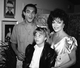 Joan Collins, Katyana Kennedy Kass, Bruce Oldfield