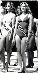Mary Stavin Former Miss World And Ex-girlfriend Of Footballer George Best Pictured At The Miss World Competition In 1977