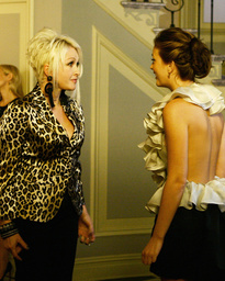 GOSSIP GIRL, from left: guest star Cyndi Lauper, Leighton Meester, 'Bonfire of the Vanity', (Season
