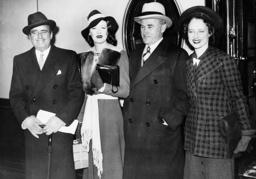 Douglas Fairbanks, Sylvia Fairbanks, Samuel and Frances Goldwyn, 1938